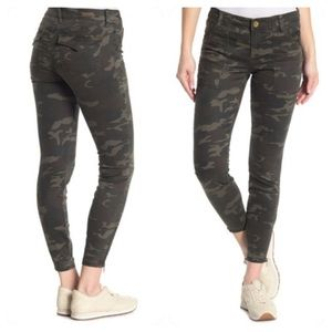 NEW Kut Kloth Theresa Camo Zip Ankle Skinny Jeans